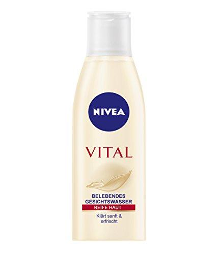 Nivea Visage Vital Gesichtswasser/ für Reife Haut/ Hautalterung/alkoholfrei/Seidenproteine/ Feuchtig
