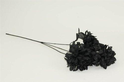 Schwarz Mum Spray mit Lila Blatt Künstliche Blume Pflanze