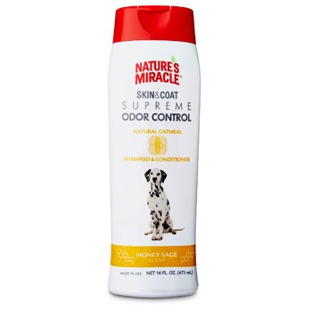 Nature's Miracle Supreme Odor Control Natural Oatmeal Shampoo & Conditioner - Honey Sage Scent - 32 oz