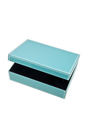 Large Glass Jewelry Box Color: Turquoise Blue