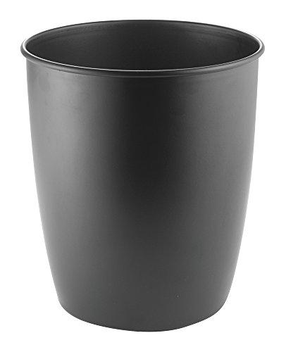 Mdesign Metal Wastebasket Trash Can For Bathroom Office