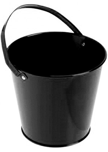 Metal Bucket (Black) Party Accessory - 1