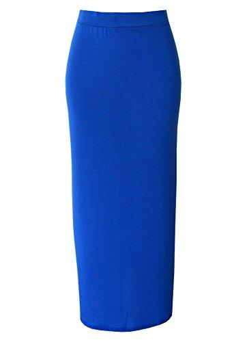 Monstercloset Women'S Solid Color Long Skirt (Medium, Royal Blue)