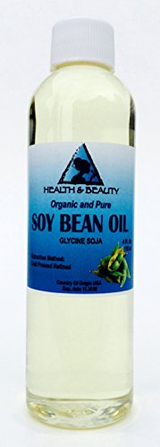 Soybean / Soy Bean Oil Organic Carrier SOY OIL Cold Pressed 100% Pure 4 oz