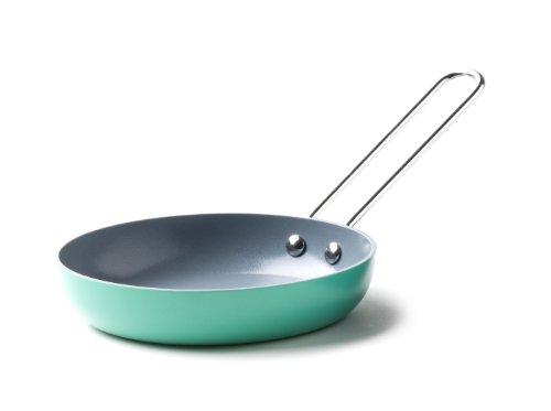 Fiesta Aluminum Non-Stick Ceramic Egg Pan, Turquoise