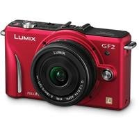 Panasonic Lumix DMC-GF2 12 MP Micro Four-Thirds Interchangeable Lens Digital Camera with 3.0-Inch Touch-Screen LCD and 14mm f/2.5 G Aspherical Lens (Red) best price