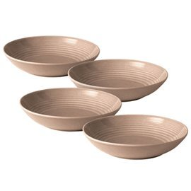 Royal Doulton Maze Taupe Open Vegetable/Pasta Bowl (Set of 4), Brown (Pasta Plates And Bowls Set compare prices)