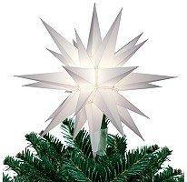 "Keystone 12"" Illuminated Star Christmas Tree Topper"