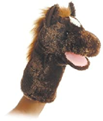 "Lonestar Brown Horse Hand Puppet 12"" by Aurora"