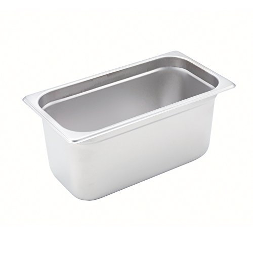 Stainless Steel 1/3 Size Anti-Jamming Steam Table Pan - 6