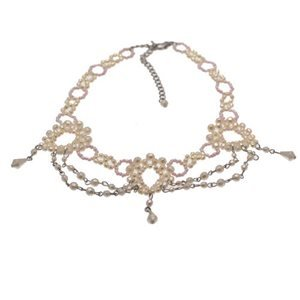 Abrianna White Pearl Choker Necklace