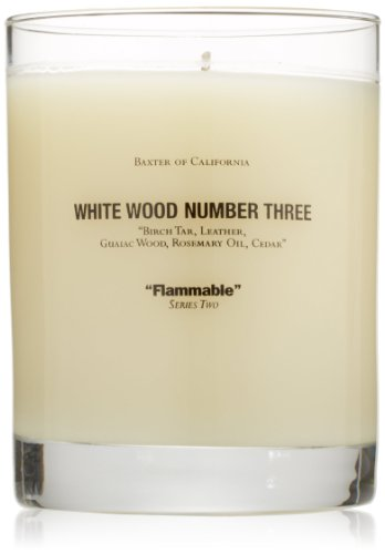 Baxter of California Scented Candle, White Wood Number Three from Baxter of California