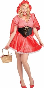 Women's Plus Size Little Red Riding Hood Costume (Size: Plus 18-22)