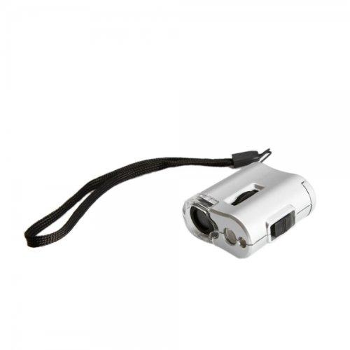 Usa Seller Mini 60X Microscope Led Lamp + Money Detecting Uv Light Magnifier Loupe