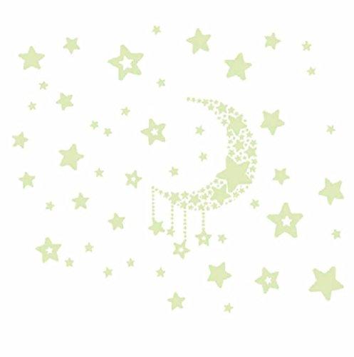 Coco Fluorescence Glow in Dark Luminous Star Nursery Kid Baby Room Wall Sticker Decal