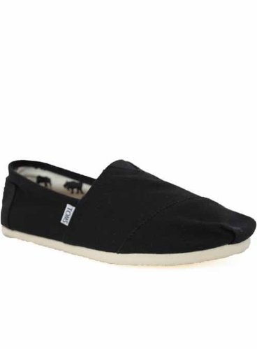 Toms Shoes Mens Black Classic Canvas Espadrilles 10