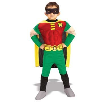 Child Teen Titan Muscle Robin Costume