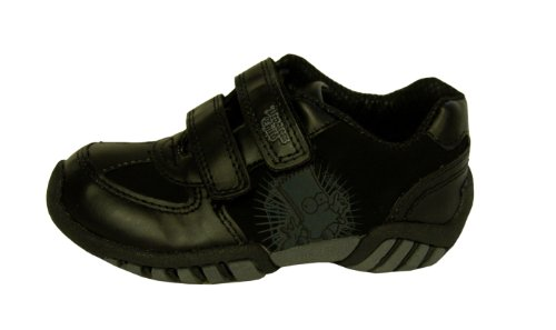 Boys Bart Simpson Black Trainers Velcro School Shoes Size 9 Infant Kids