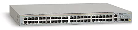 Allied Telesis AT FS750/48 WebSmart Switch Commutateur 48 ports EN, Fast EN 10Base-T, 100Base-TX + 2 ports 1000Base-T(uplink), 2xSFP (mini-GBIC)(uplink) 1U