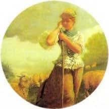 Winslow Homer Sheperdess Keychain