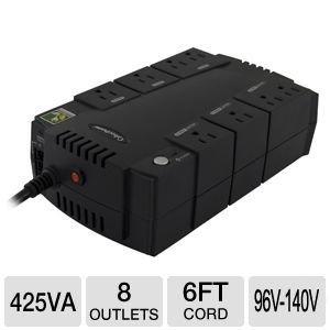 Cyberpower CPS425SL UPS - 425VA 230W 6-Outlet RJ11 Compact Design EMI RFI USB SerialB0001P0OG4
