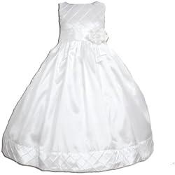 Cinda Damigella d'onore / abito da comunione Bianco 5-6 Anni