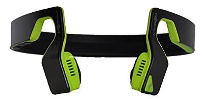 Aftershokz Bluez 2S Wireless Bone Conduction Bluetooth Headphones, Neon Green, (AS500SN)