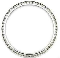 Mens 1.30ct Channel Set Diamond Bezel 18kw for Rolex