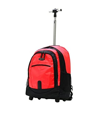 Olympia Luggage 19-Inch Rolling Backpack, Red