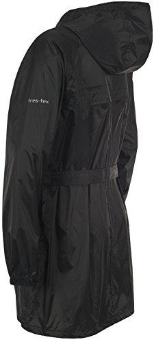 Trespass Damen Compac Mac Packaway Jacke S schwarz - schwarz -