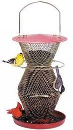 No/No Red and Brass Standard 3 Tier Feeder  RB300334