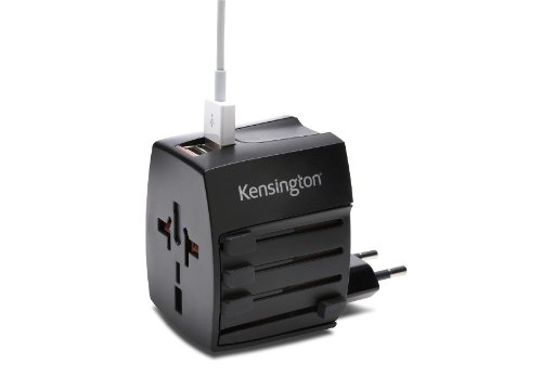 Lowest Prices! Kensington International Travel Plug Adapter with Dual USB Ports (K38120WW)