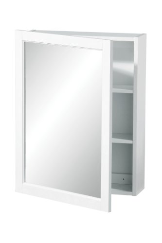 Premier-Housewares-2402059-Mueble-de-pared-con-puerta-de-espejo-66-x-51-x-16-cm-color-blanco