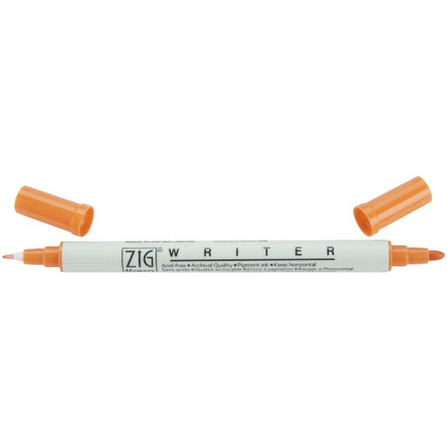 Zig Memory System Writer Dual Tip Marker, Pure Orange