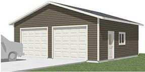 Garage plans 2 bay truck size 784 11 28 39 x for Garage bay size