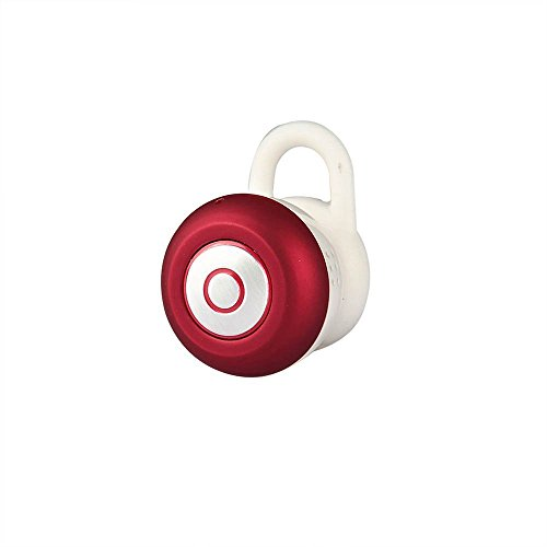 blueskycloud Mini Bluetooth 4.1 in-ear cuffia auricolare con microfono per iPhone e Android Smartphone (Rosso)