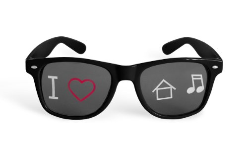 I Love House Music Sunglasses - Rave Gear & Outfit Accessories - Black