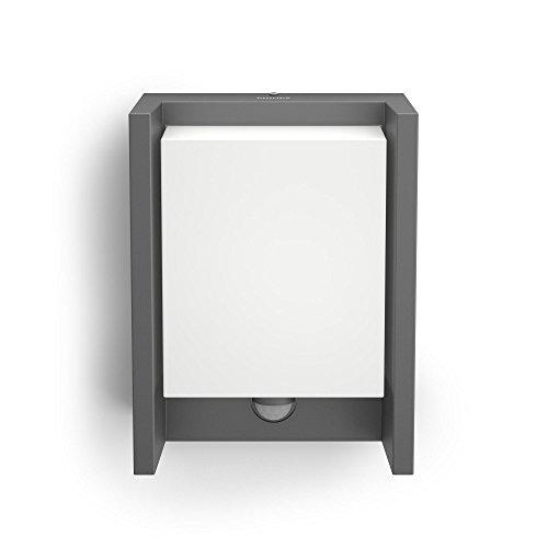 philips mygarden led wandaussenleuchte arbour 1 flammig bewegungsmelder aluminium 6 w grau. Black Bedroom Furniture Sets. Home Design Ideas