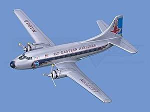 Martin 404, Fly-Eastern Airlines Aircraft Model Mahogany Display Model / Toy. Scale: 1/162