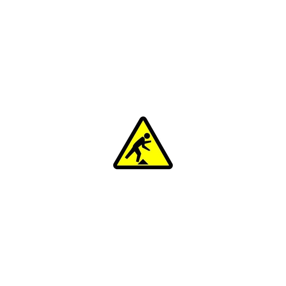 WARNING Labels TRIPPING HAZARD 2 Adhesive Dura Vinyl