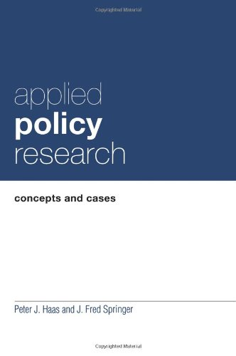 Applied Policy Research: Concepts and Cases (Garland...