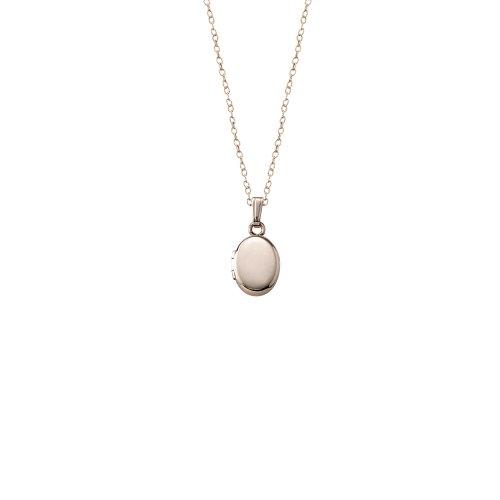 Children's 14k Gold-Filled Polished Oval Locket Necklace, 13
