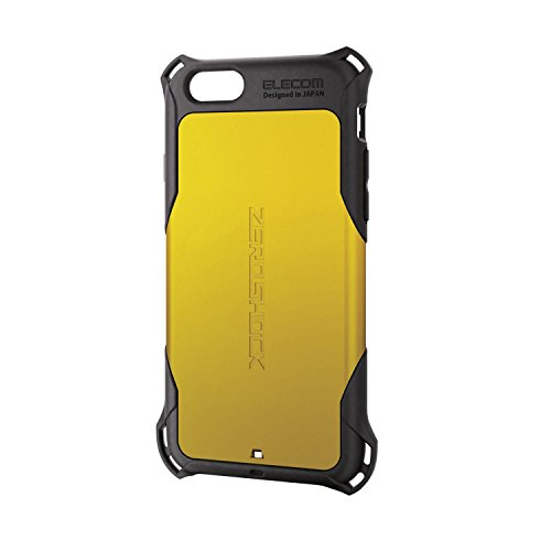 ELECOM iPhone6S iPhone6 ZEROSHOCKケース イエロー PM-A15ZEROYL