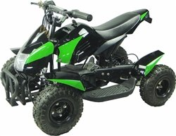 350 Watt Gobi Electric Ride On Mini Quad Sport Atv For Kids, Green