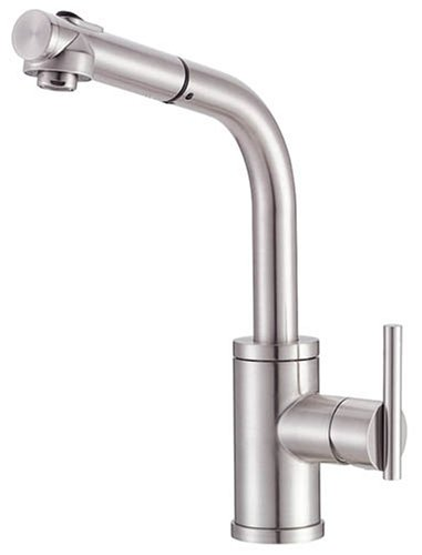 Danze D404558SS Parma Single-Handle Kitchen Faucet with Pull Out Spout, Stainless Steel