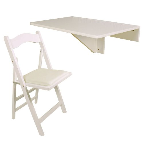 Sobuy wall mounted drop leaf table folding kitchen dining table desk children table fwt03 w - Wall mounted drop leaf table white ...