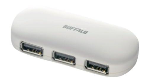 iBUFFALO パソコン/液晶TV[REGZA][AQUOS]対応 (ACアダプタ付)USB2.0ハブ セルフ&バスパワー 4ポート ホワイト BSH4A01WH
