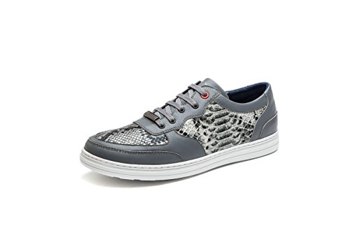 OPP Hommes Mode Chaussures Serpentine en Cuir A Lacets Basses