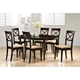 6-Piece Dining Set in Rich Cappuccino - Coaster