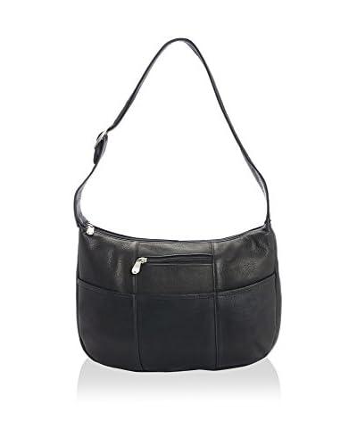 ROYCE LEATHER Women's Luxury Shoulder Bag, Black